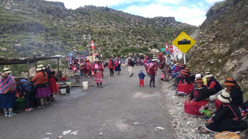 Bloqueo en la zona Yavi Yavi (Foto: Ojo Público)