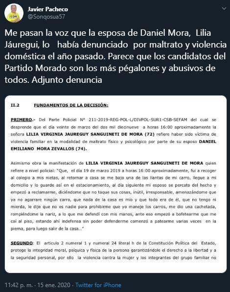 Javier Pacheco, Solidaridad Nacional